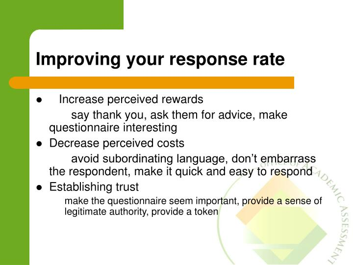Improving your response rate