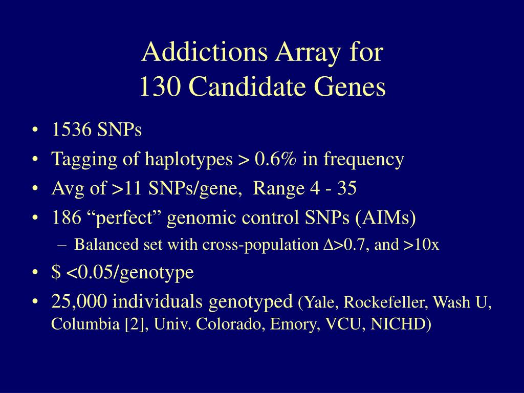 Addictions Array for