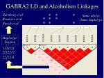 gabra2 ld and alcoholism linkages