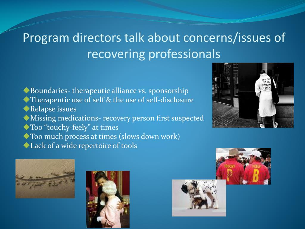 Program directors talk about concerns/issues of recovering professionals