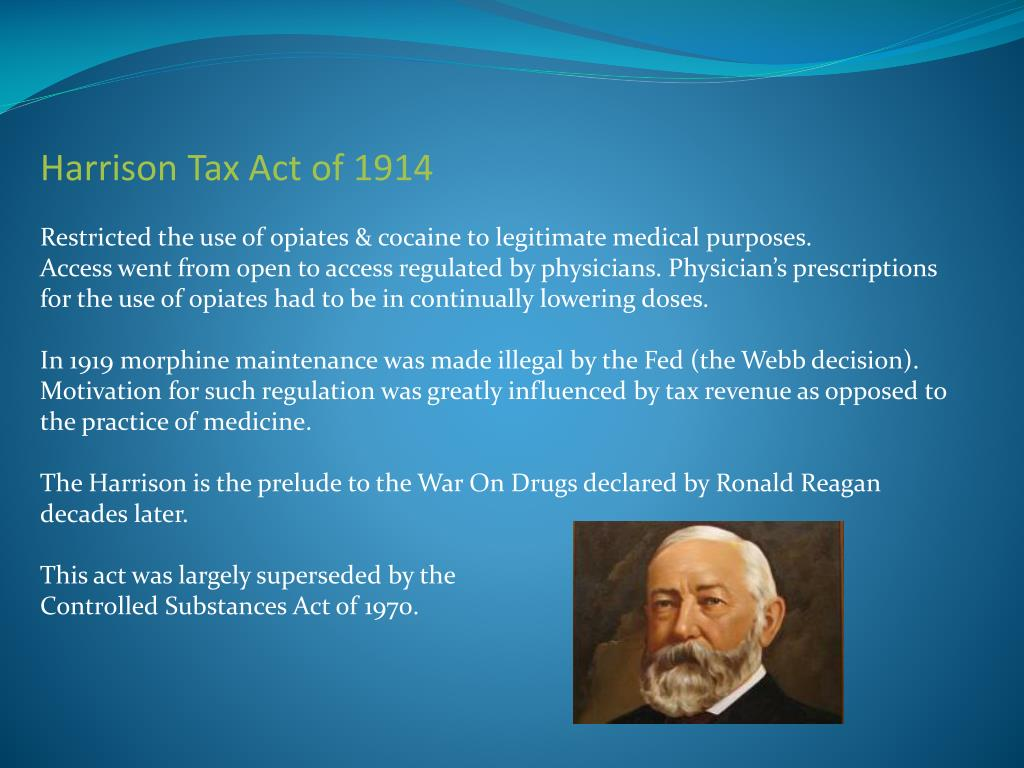 Harrison Tax Act of 1914