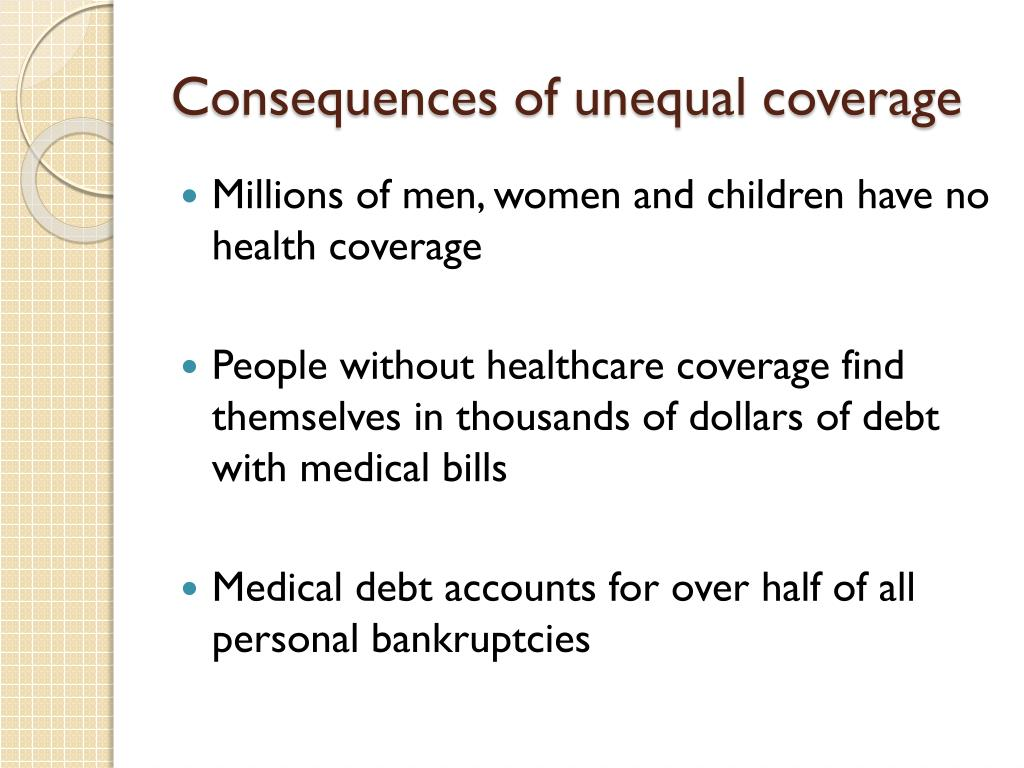 Consequences of unequal coverage
