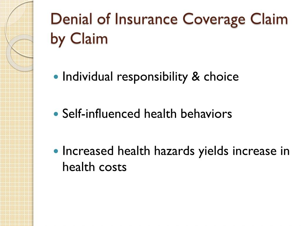 Denial of Insurance Coverage Claim by Claim