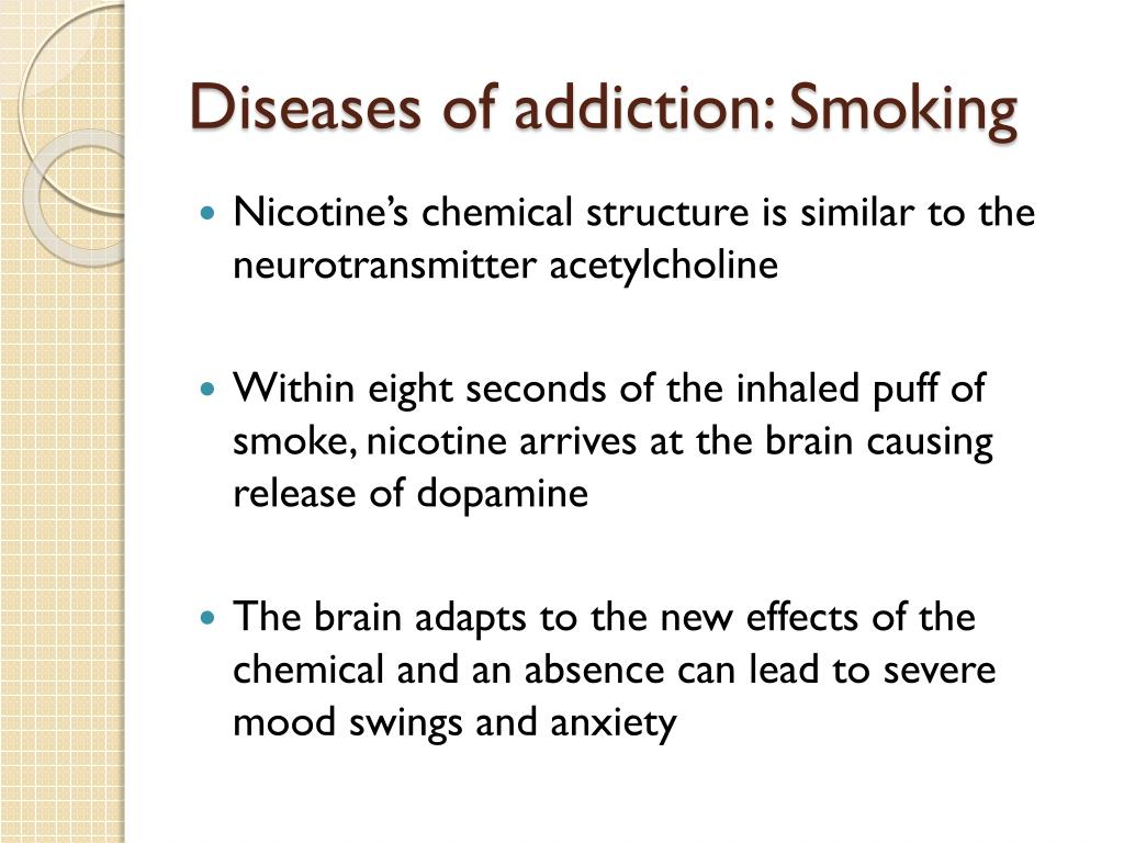 Diseases of addiction: Smoking