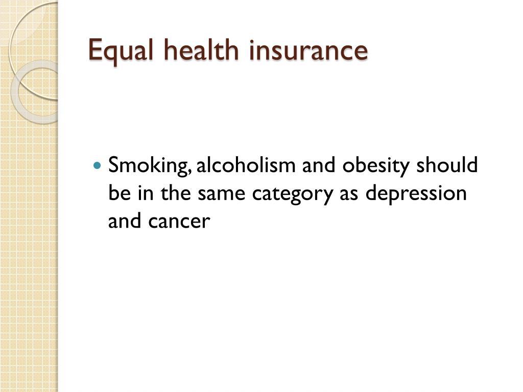 Equal health insurance