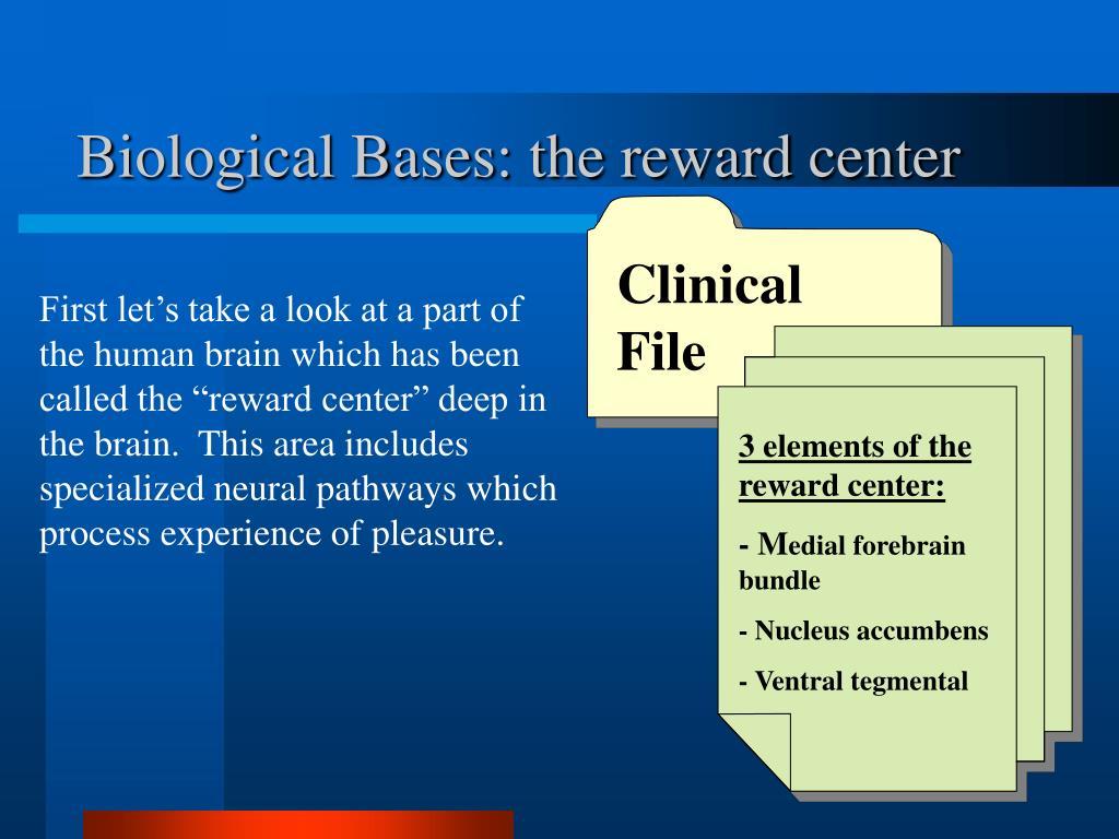 3 elements of the reward center: