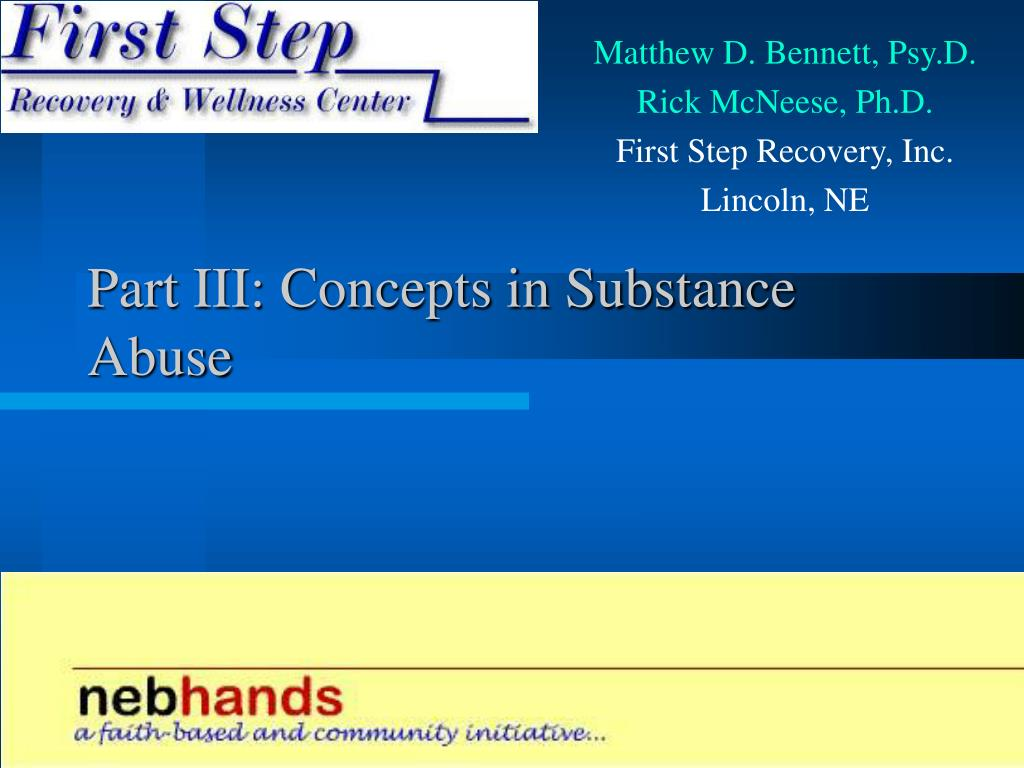 Part III: Concepts in Substance Abuse
