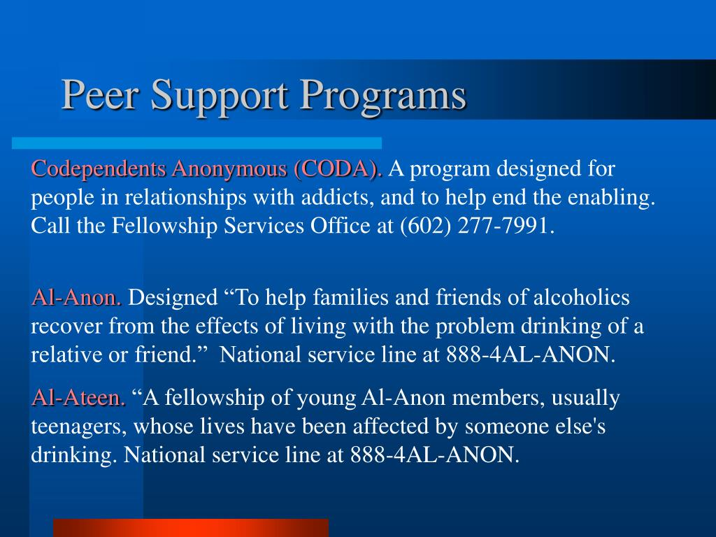 Peer Support Programs