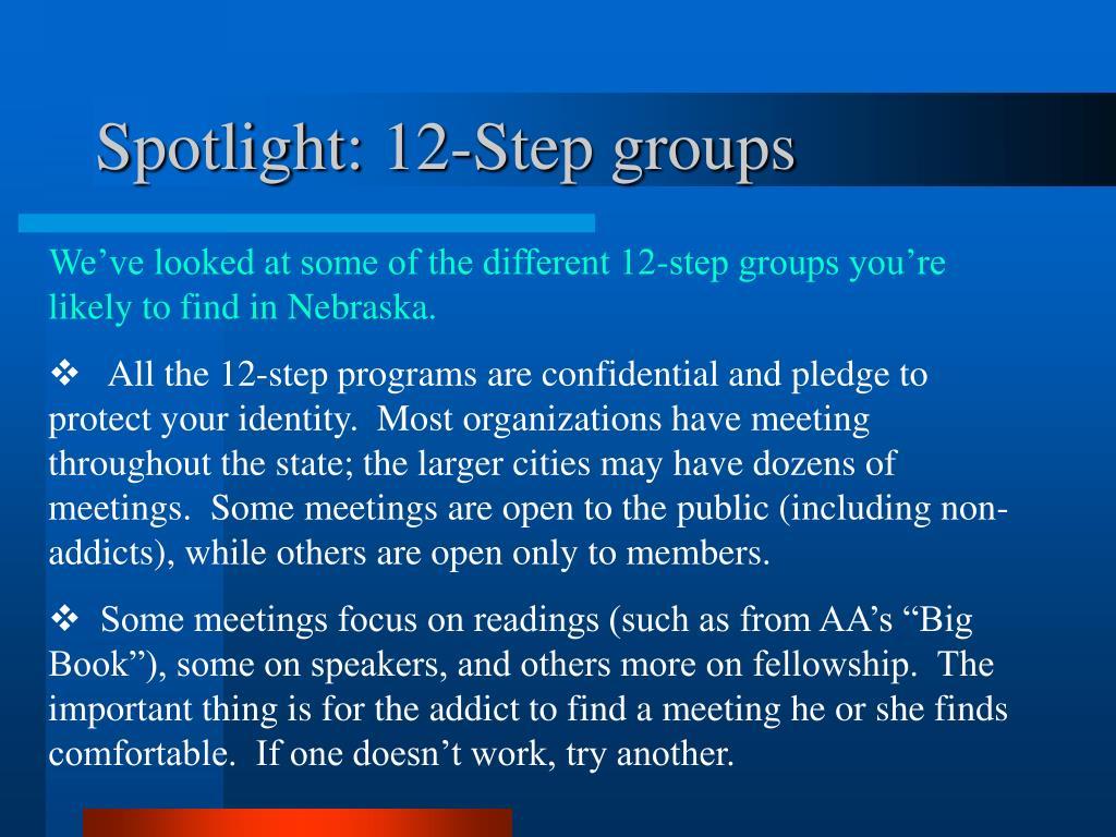 Spotlight: 12-Step groups