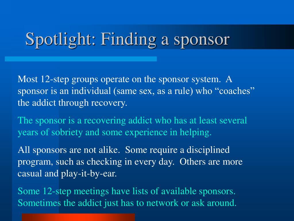 Spotlight: Finding a sponsor