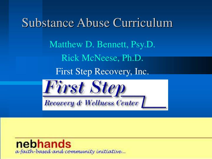 Substance abuse curriculum l.jpg