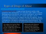 types of drugs of abuse17