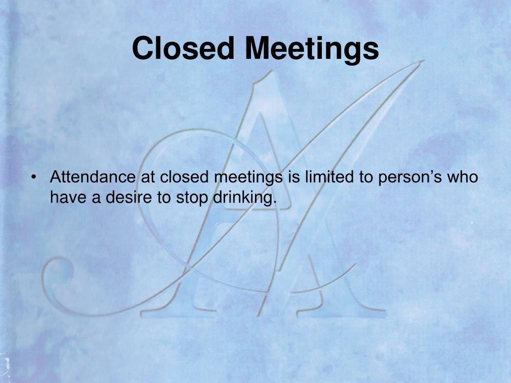 Closed Meetings