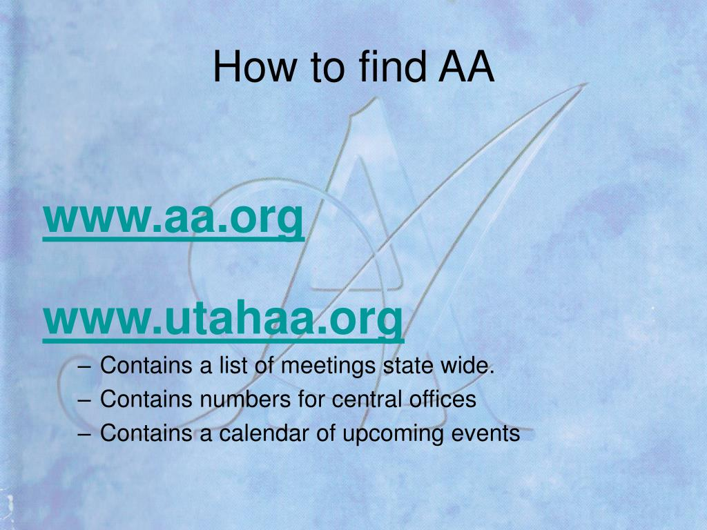 How to find AA