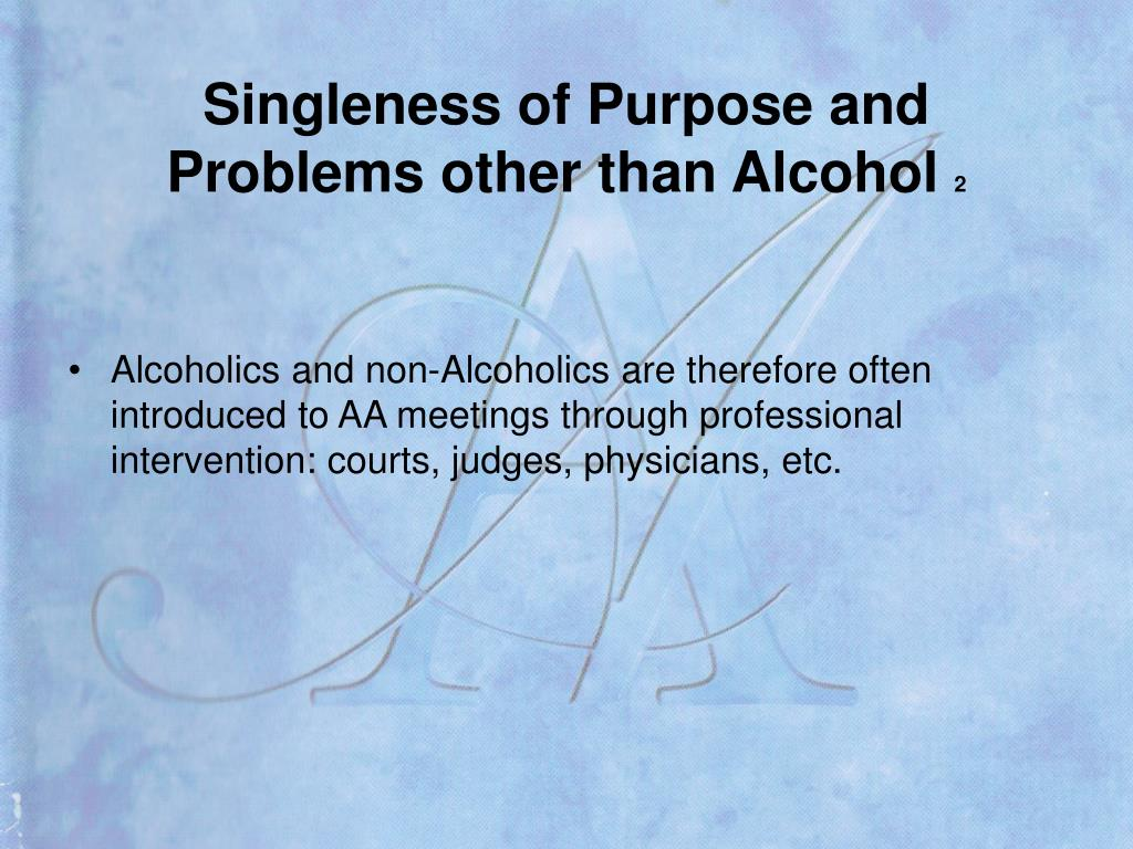 Singleness of Purpose and