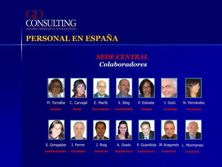 PERSONAL EN ESPAÑA