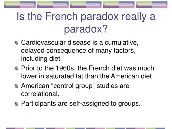 Is the french paradox really a paradox