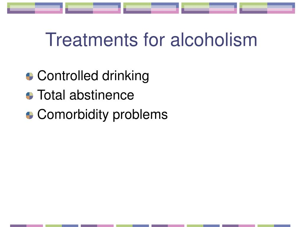 Treatments for alcoholism