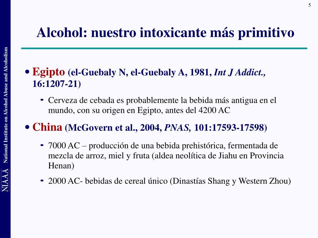 Alcohol: nuestro intoxicante más primitivo