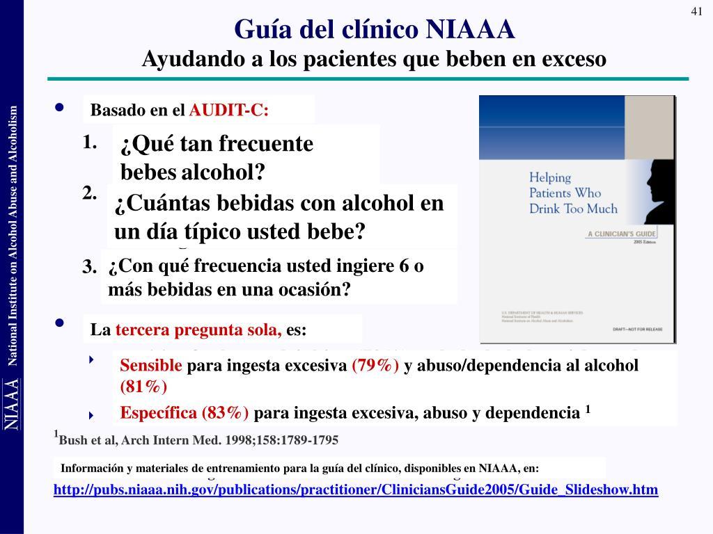 Guía del clínico NIAAA