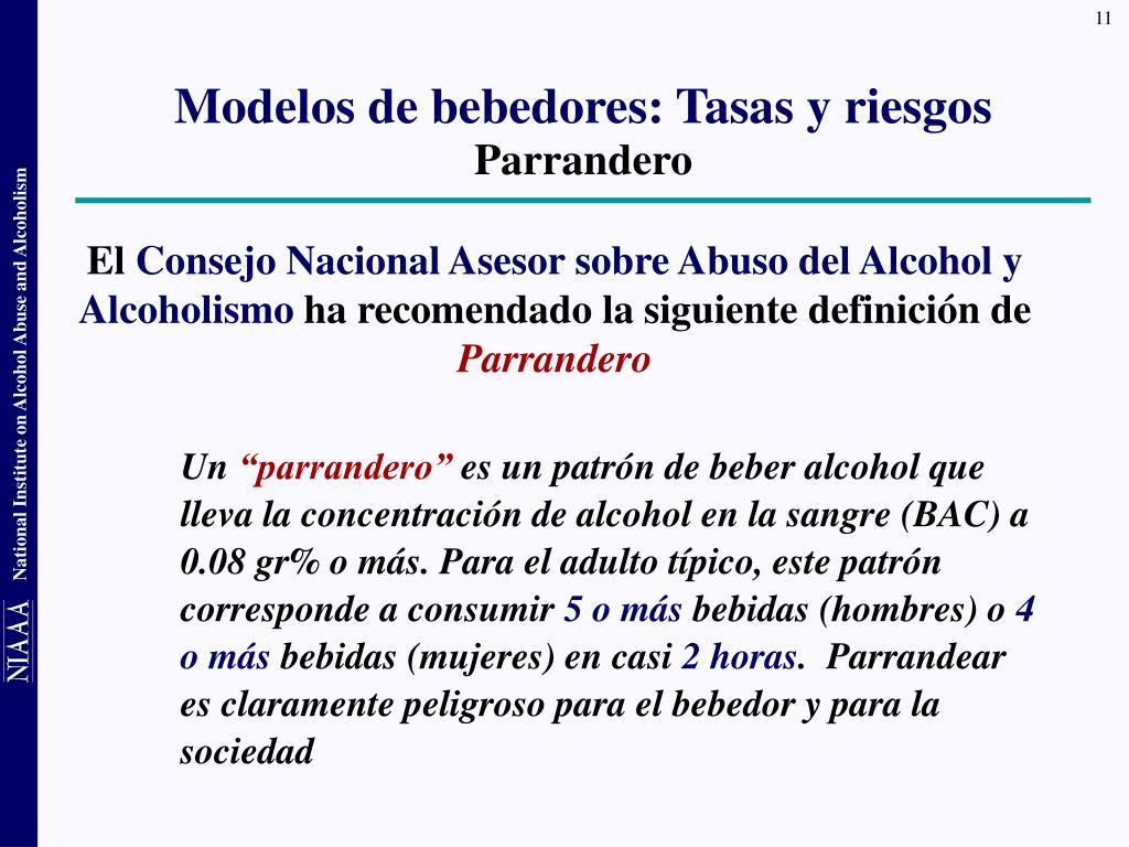 Modelos de bebedores: Tasas y riesgos