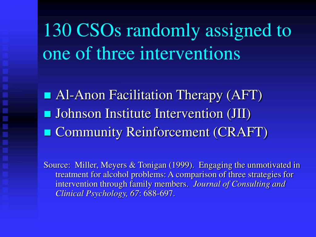 130 CSOs randomly assigned to one of three interventions