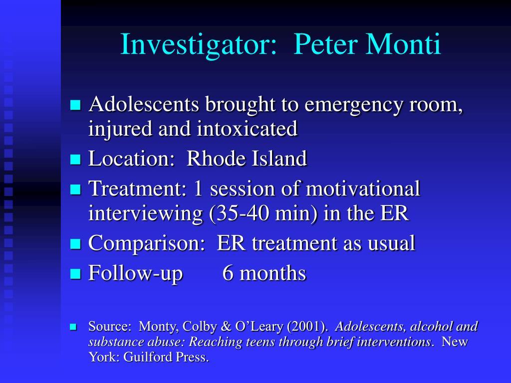 Investigator:  Peter Monti