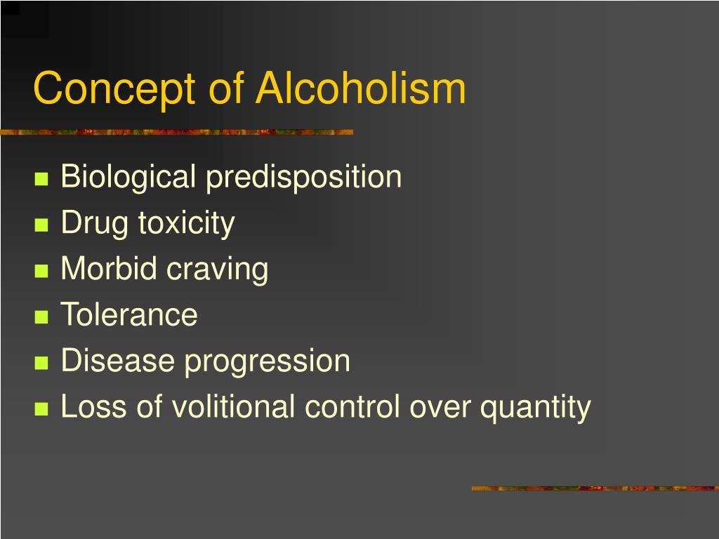 Concept of Alcoholism