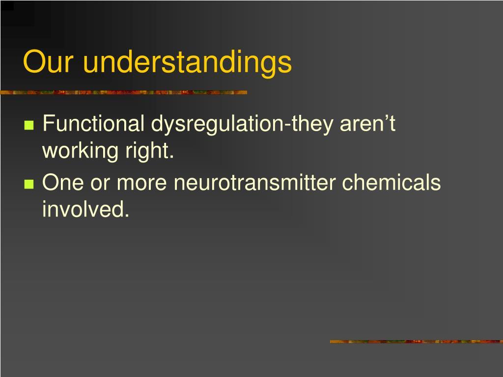 Our understandings