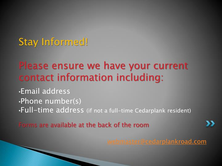 Stay Informed!
