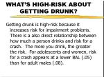 what s high risk about getting drunk24
