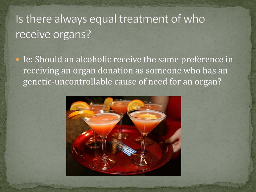 Is there always equal treatment of who receive organs?