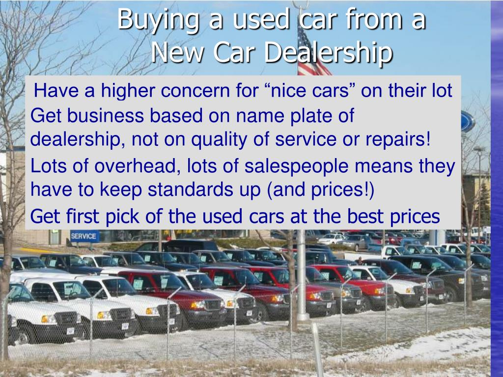 Buying a used car from a