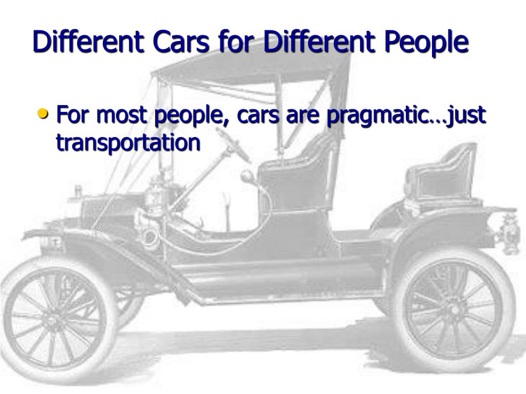 Different Cars for Different People
