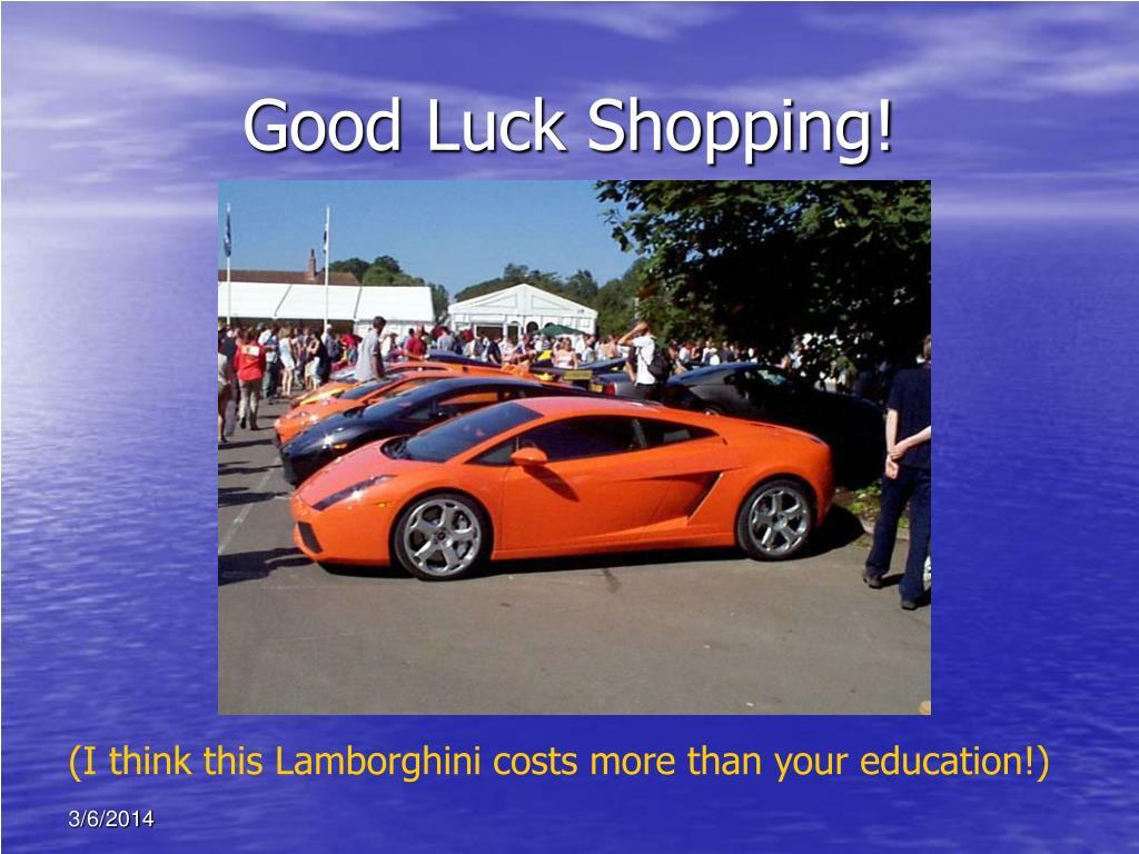 Good Luck Shopping!