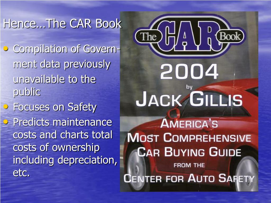 Hence…The CAR Book