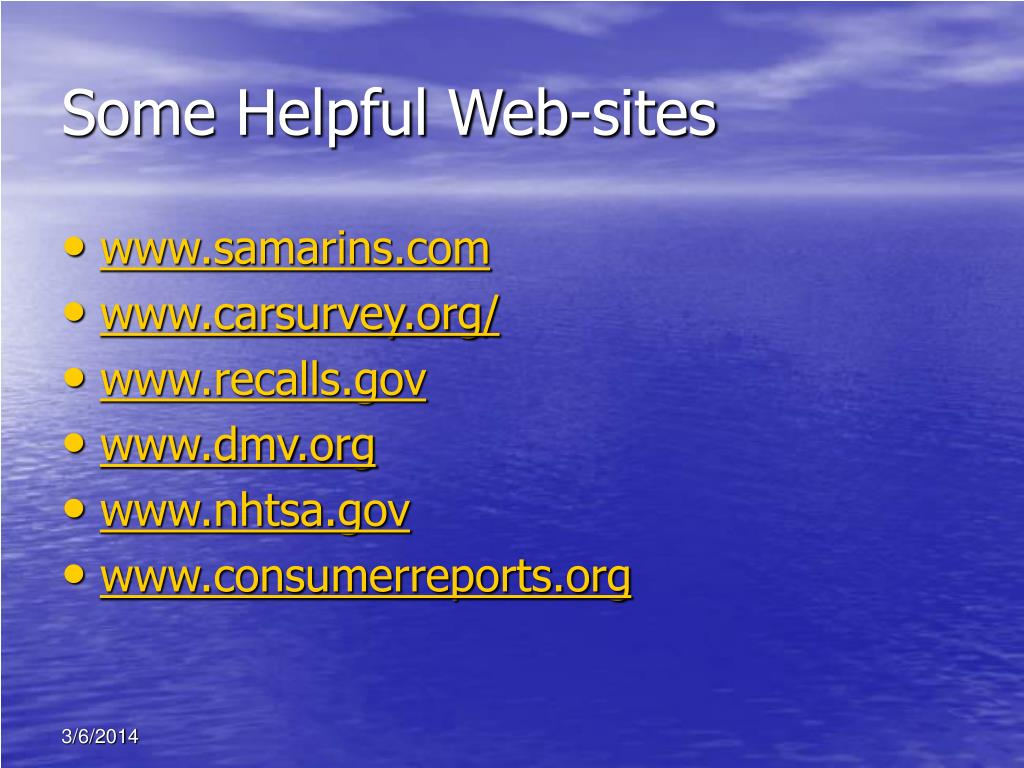 Some Helpful Web-sites