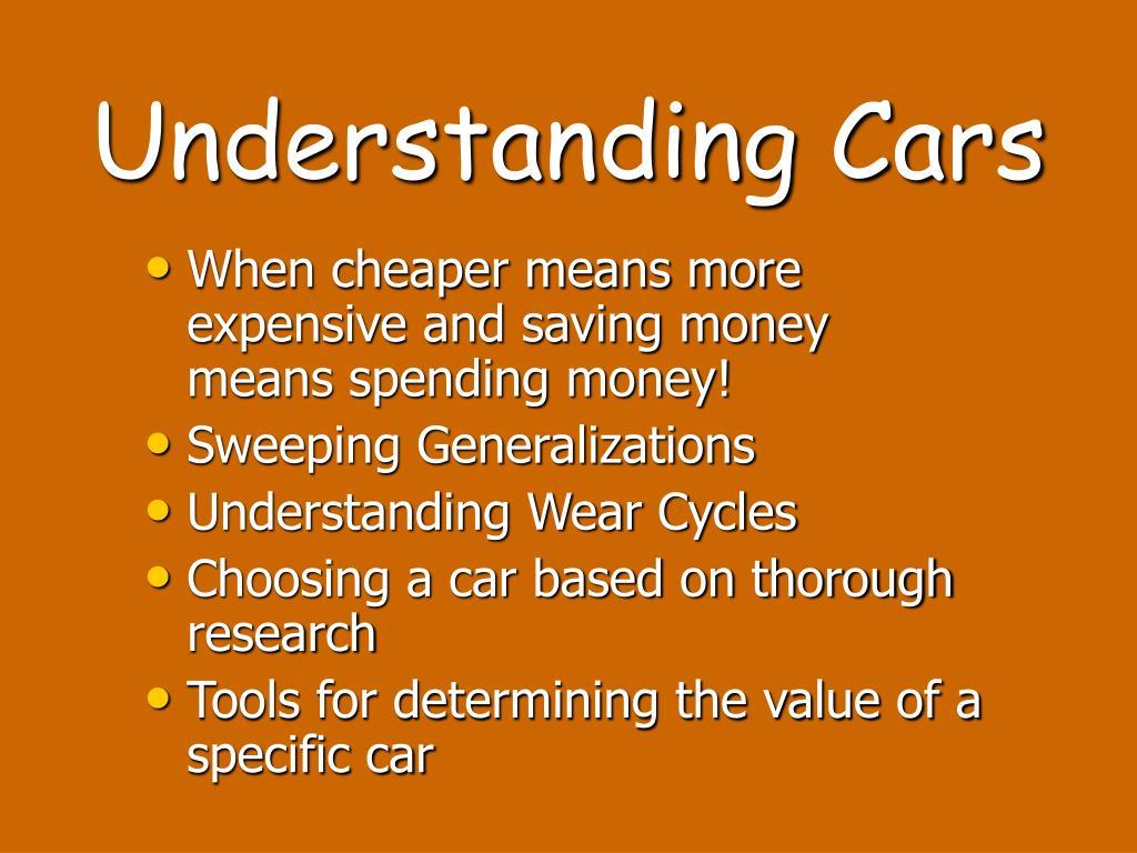 Understanding Cars