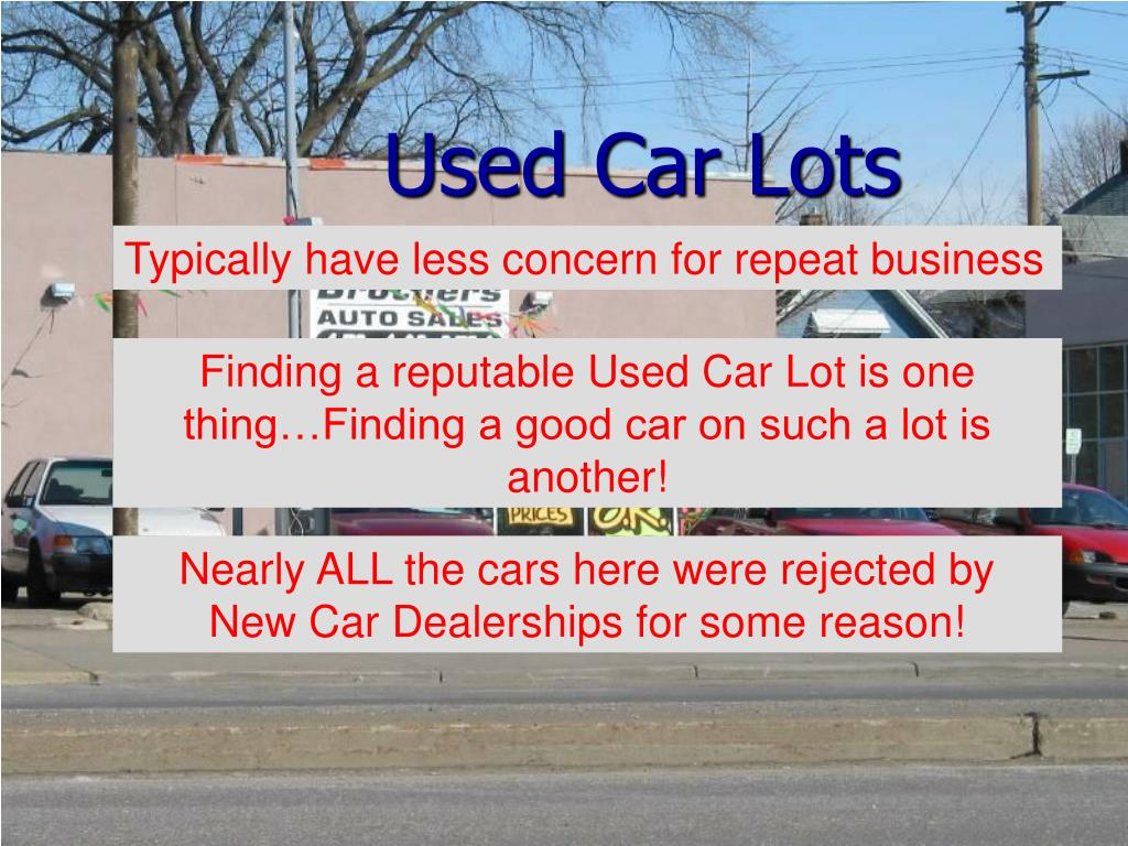 Used Car Lots