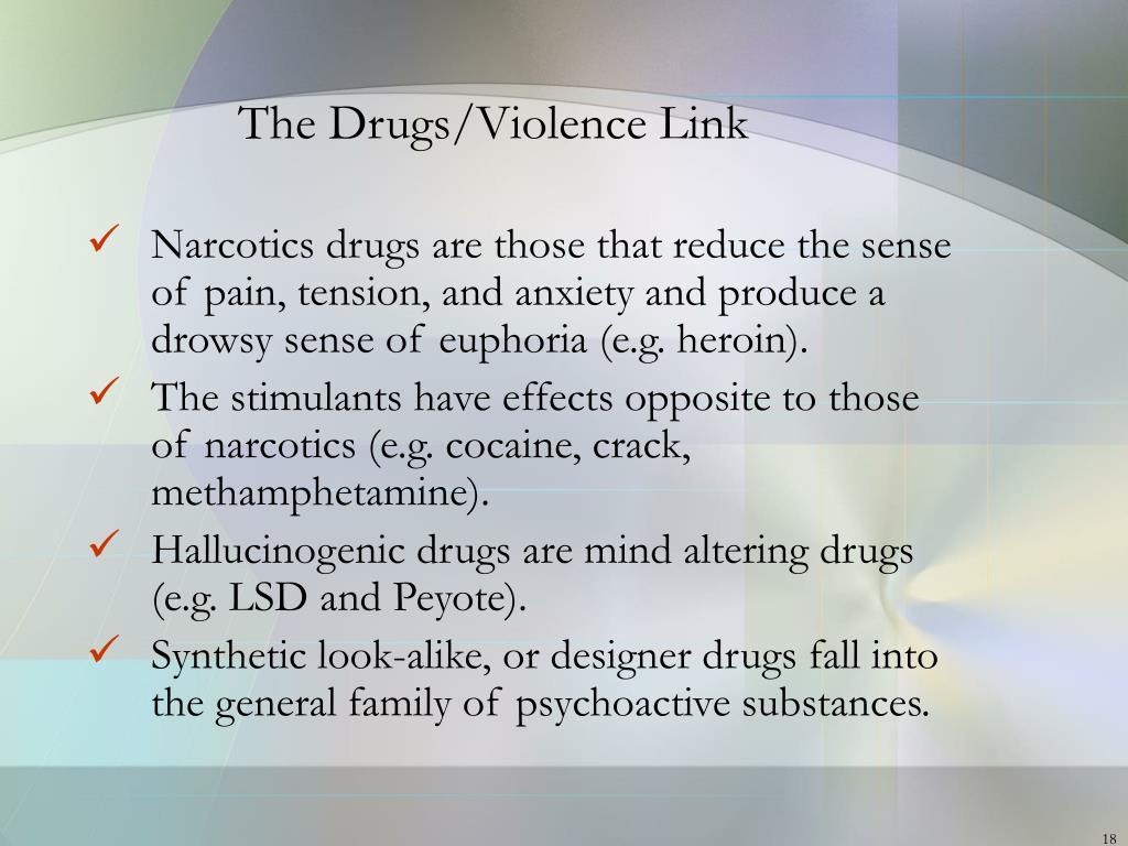 The Drugs/Violence Link