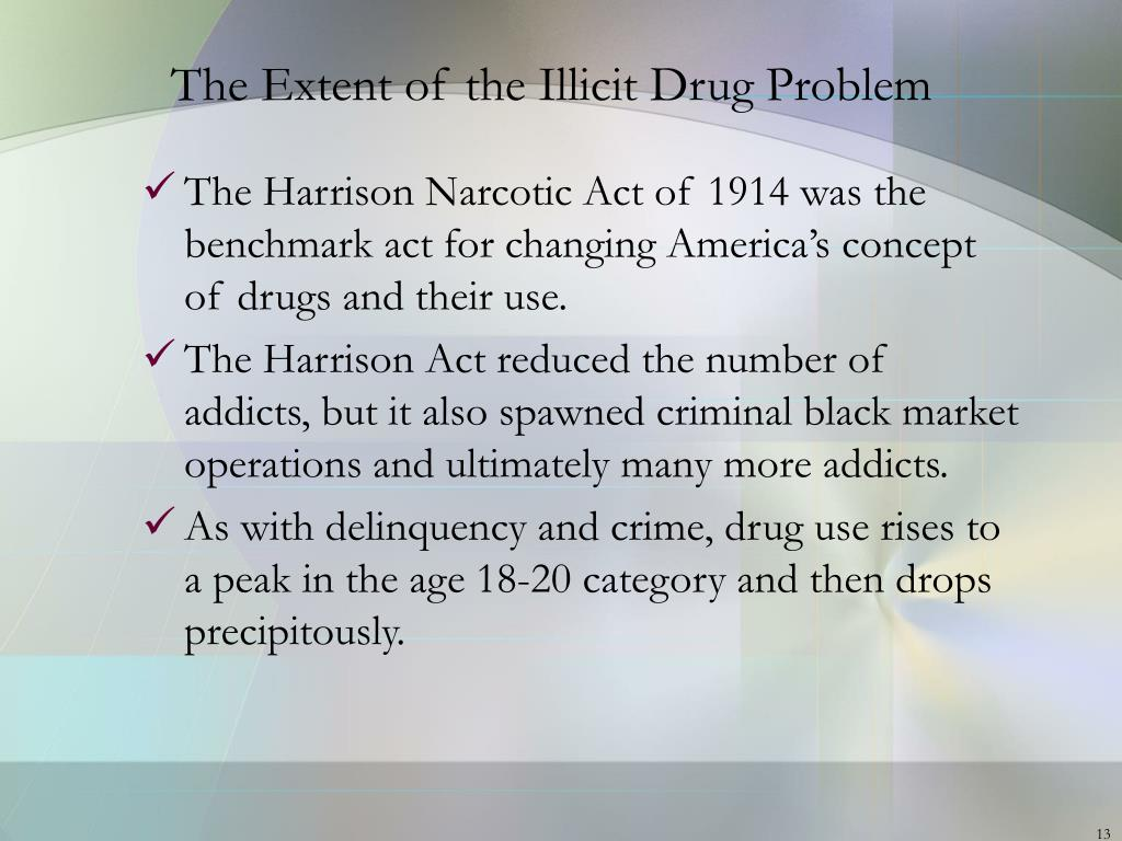 The Extent of the Illicit Drug Problem