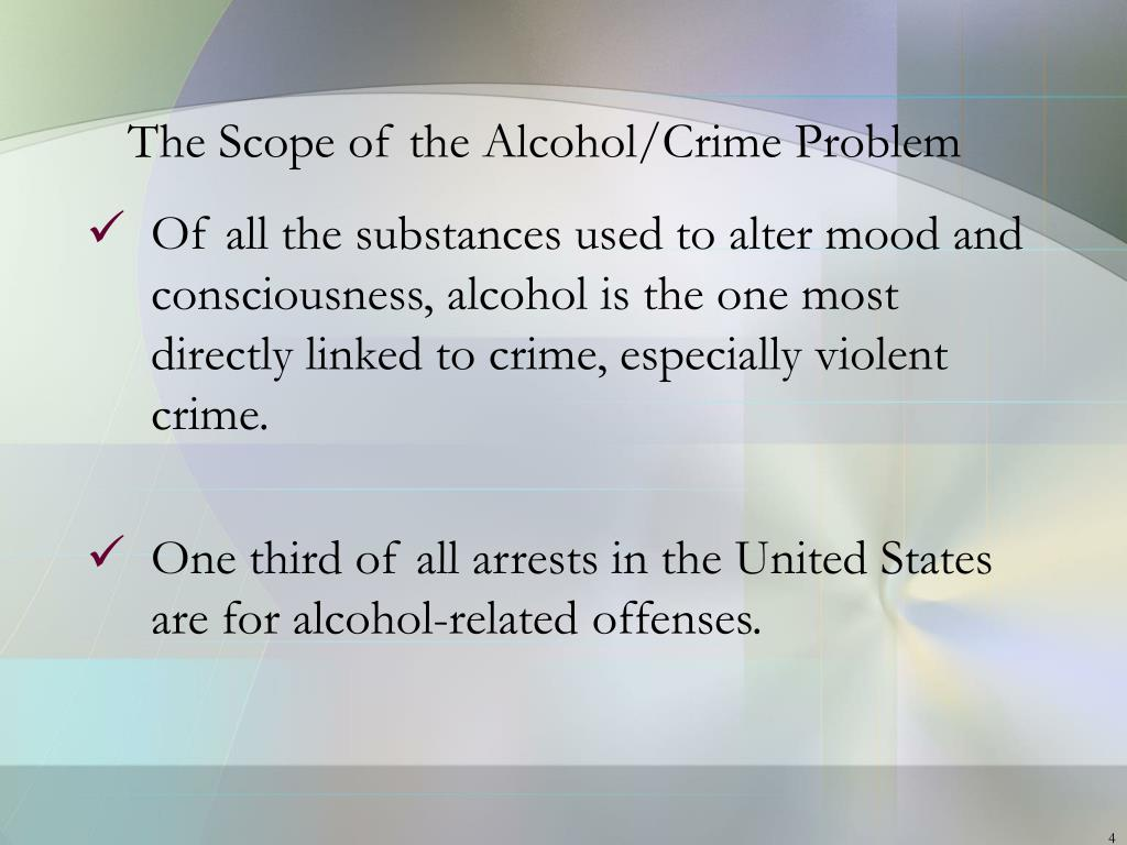 The Scope of the Alcohol/Crime Problem