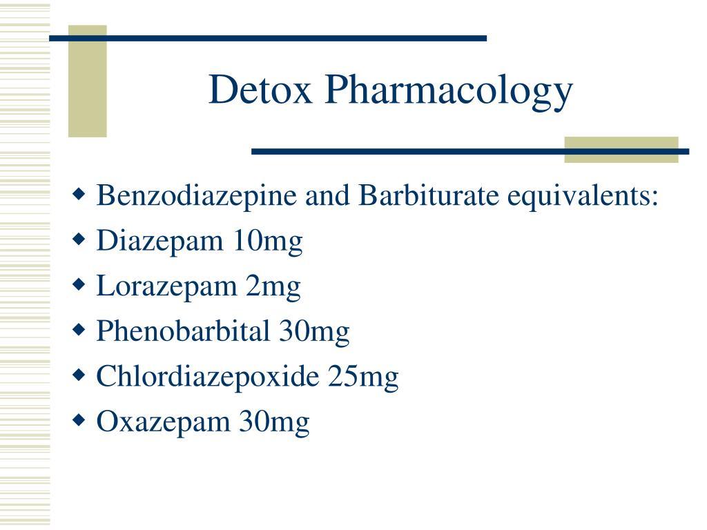 Detox Pharmacology