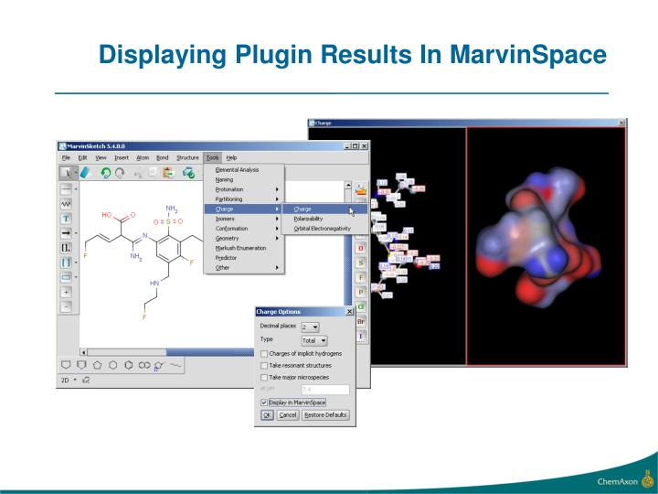 Displaying Plugin Results In MarvinSpace