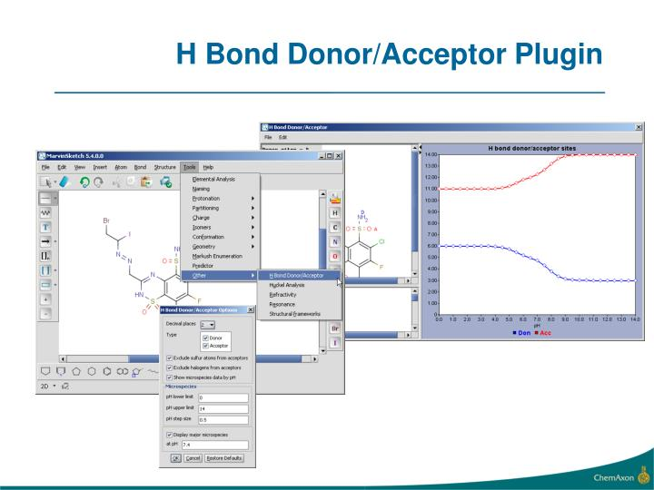 H Bond Donor/Acceptor Plugin