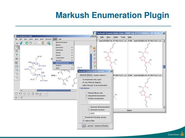 Markush Enumeration Plugin