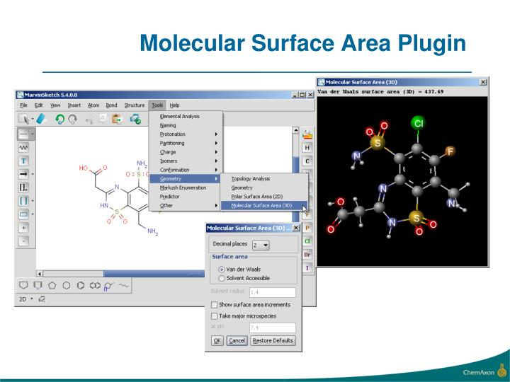 Molecular Surface Area Plugin