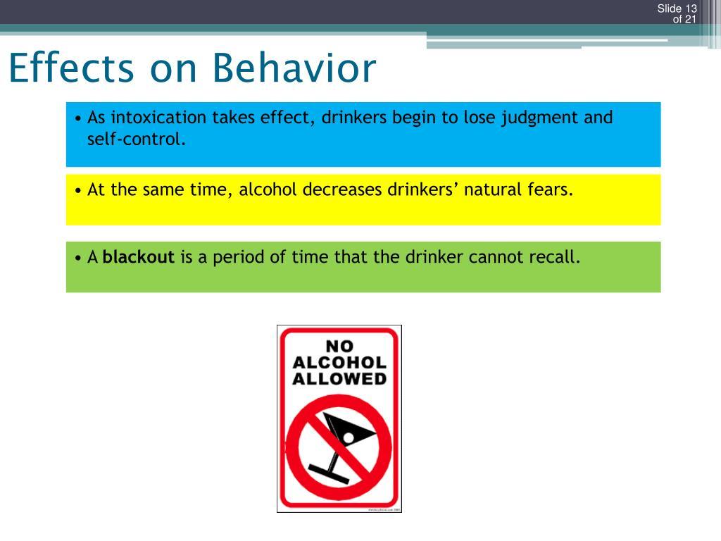 Effects on Behavior