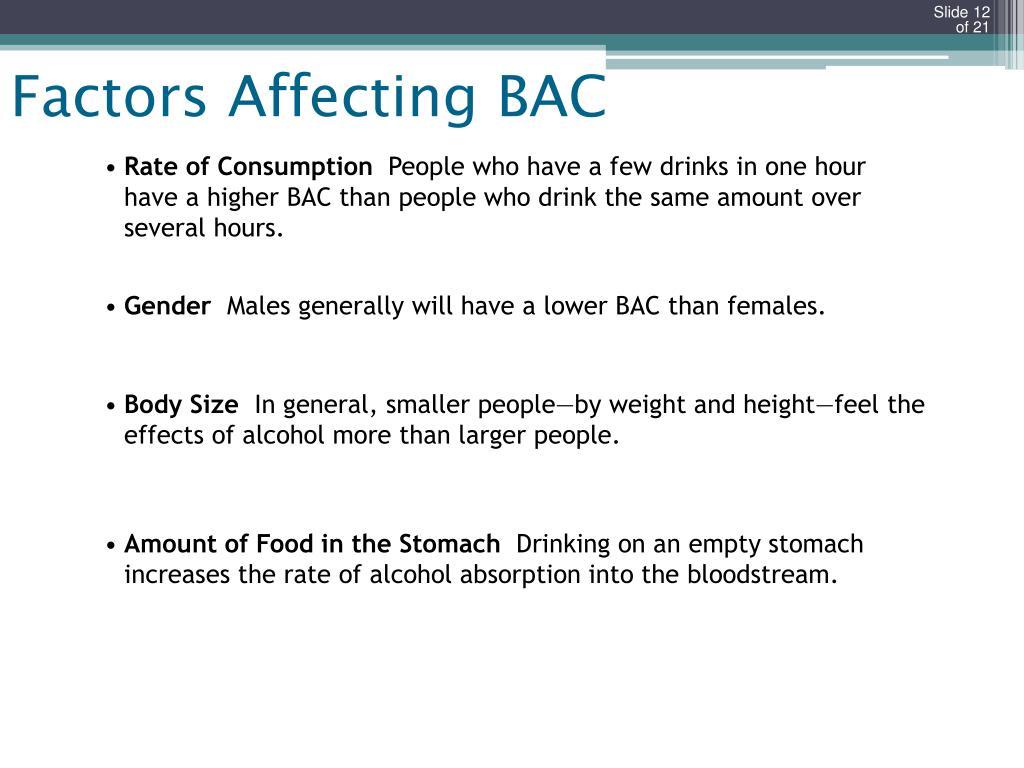 Factors Affecting BAC