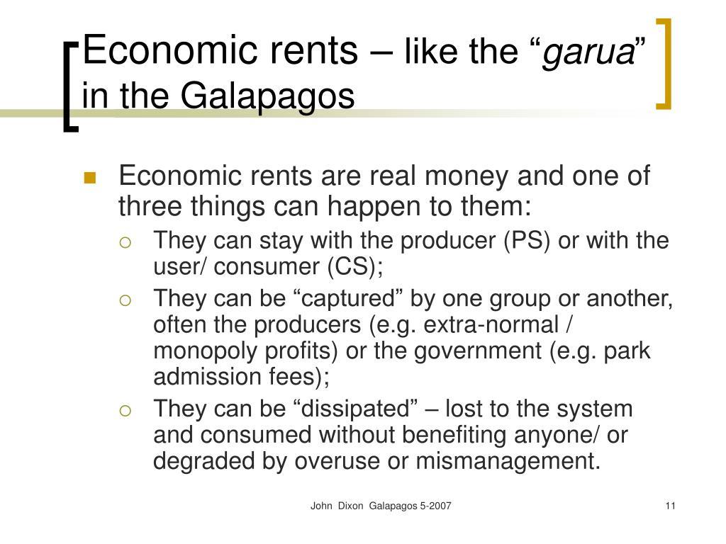 Economic rents –